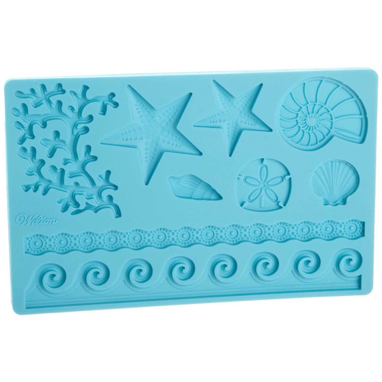 Fondant Cake Decorations Uk : Wilton Sea Life Fondant and Gum Paste Mold Mould ...