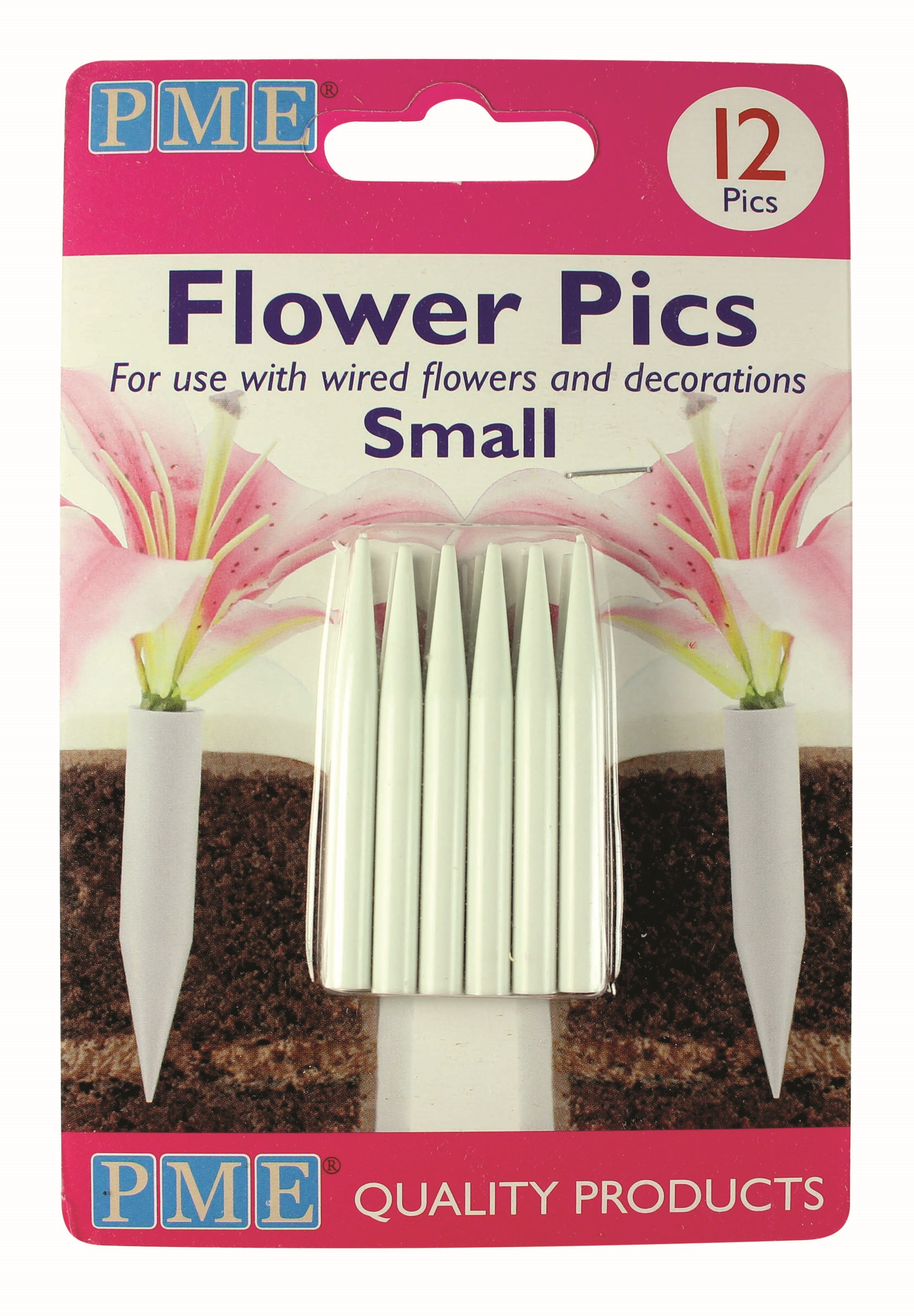 Pme Flower Floral Picks Pics Sugarcraft Flower Holder Cake